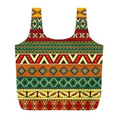 Mexican Folk Art Patterns Full Print Recycle Bags (L)