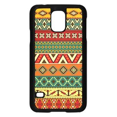 Mexican Folk Art Patterns Samsung Galaxy S5 Case (black)