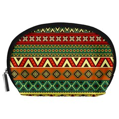 Mexican Folk Art Patterns Accessory Pouches (Large)