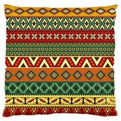 Mexican Folk Art Patterns Large Flano Cushion Case (one Side)