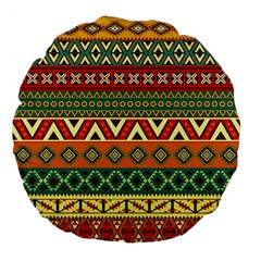 Mexican Folk Art Patterns Large 18  Premium Flano Round Cushions