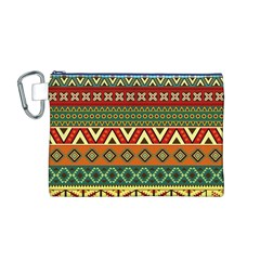 Mexican Folk Art Patterns Canvas Cosmetic Bag (M)