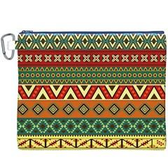 Mexican Folk Art Patterns Canvas Cosmetic Bag (xxxl)