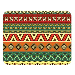 Mexican Folk Art Patterns Double Sided Flano Blanket (large)