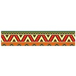 Mexican Folk Art Patterns Flano Scarf (Small) Back