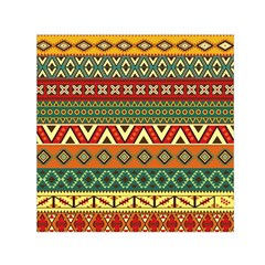 Mexican Folk Art Patterns Small Satin Scarf (square)