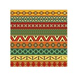 Mexican Folk Art Patterns Small Satin Scarf (Square) Front
