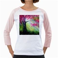 Forests Stunning Glimmer Paintings Sunlight Blooms Plants Love Seasons Traditional Art Flowers Sunsh Girly Raglans