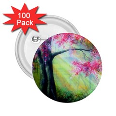 Forests Stunning Glimmer Paintings Sunlight Blooms Plants Love Seasons Traditional Art Flowers Sunsh 2 25  Buttons (100 Pack)