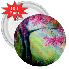 Forests Stunning Glimmer Paintings Sunlight Blooms Plants Love Seasons Traditional Art Flowers Sunsh 3  Buttons (100 Pack)