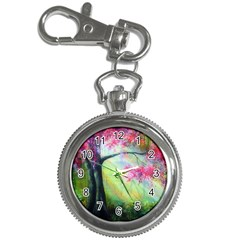 Forests Stunning Glimmer Paintings Sunlight Blooms Plants Love Seasons Traditional Art Flowers Sunsh Key Chain Watches
