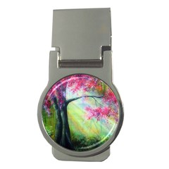 Forests Stunning Glimmer Paintings Sunlight Blooms Plants Love Seasons Traditional Art Flowers Sunsh Money Clips (round)