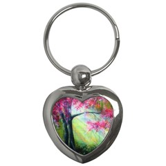 Forests Stunning Glimmer Paintings Sunlight Blooms Plants Love Seasons Traditional Art Flowers Sunsh Key Chains (heart)
