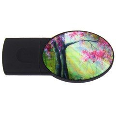 Forests Stunning Glimmer Paintings Sunlight Blooms Plants Love Seasons Traditional Art Flowers Sunsh USB Flash Drive Oval (2 GB)