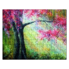 Forests Stunning Glimmer Paintings Sunlight Blooms Plants Love Seasons Traditional Art Flowers Sunsh Rectangular Jigsaw Puzzl