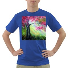 Forests Stunning Glimmer Paintings Sunlight Blooms Plants Love Seasons Traditional Art Flowers Sunsh Dark T Shirt