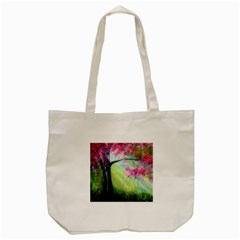 Forests Stunning Glimmer Paintings Sunlight Blooms Plants Love Seasons Traditional Art Flowers Sunsh Tote Bag (Cream)