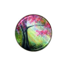 Forests Stunning Glimmer Paintings Sunlight Blooms Plants Love Seasons Traditional Art Flowers Sunsh Hat Clip Ball Marker