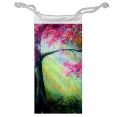Forests Stunning Glimmer Paintings Sunlight Blooms Plants Love Seasons Traditional Art Flowers Sunsh Jewelry Bag