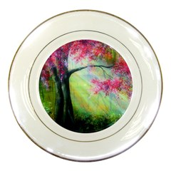 Forests Stunning Glimmer Paintings Sunlight Blooms Plants Love Seasons Traditional Art Flowers Sunsh Porcelain Plates