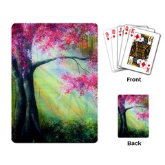 Forests Stunning Glimmer Paintings Sunlight Blooms Plants Love Seasons Traditional Art Flowers Sunsh Playing Card