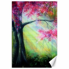 Forests Stunning Glimmer Paintings Sunlight Blooms Plants Love Seasons Traditional Art Flowers Sunsh Canvas 12  X 18
