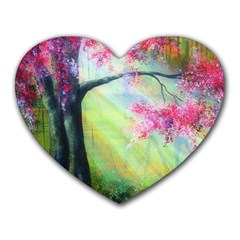 Forests Stunning Glimmer Paintings Sunlight Blooms Plants Love Seasons Traditional Art Flowers Sunsh Heart Mousepads