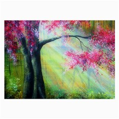 Forests Stunning Glimmer Paintings Sunlight Blooms Plants Love Seasons Traditional Art Flowers Sunsh Large Glasses Cloth (2 Side)