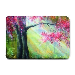 Forests Stunning Glimmer Paintings Sunlight Blooms Plants Love Seasons Traditional Art Flowers Sunsh Small Doormat