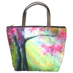 Forests Stunning Glimmer Paintings Sunlight Blooms Plants Love Seasons Traditional Art Flowers Sunsh Bucket Bags