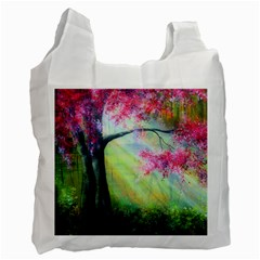 Forests Stunning Glimmer Paintings Sunlight Blooms Plants Love Seasons Traditional Art Flowers Sunsh Recycle Bag (two Side)