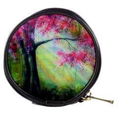 Forests Stunning Glimmer Paintings Sunlight Blooms Plants Love Seasons Traditional Art Flowers Sunsh Mini Makeup Bags