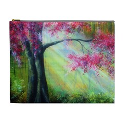 Forests Stunning Glimmer Paintings Sunlight Blooms Plants Love Seasons Traditional Art Flowers Sunsh Cosmetic Bag (xl)