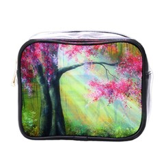 Forests Stunning Glimmer Paintings Sunlight Blooms Plants Love Seasons Traditional Art Flowers Sunsh Mini Toiletries Bags