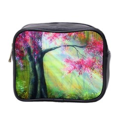 Forests Stunning Glimmer Paintings Sunlight Blooms Plants Love Seasons Traditional Art Flowers Sunsh Mini Toiletries Bag 2 Side