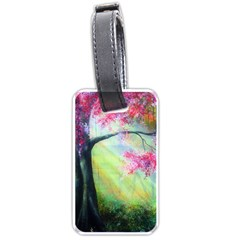 Forests Stunning Glimmer Paintings Sunlight Blooms Plants Love Seasons Traditional Art Flowers Sunsh Luggage Tags (two Sides)
