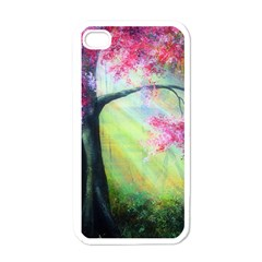 Forests Stunning Glimmer Paintings Sunlight Blooms Plants Love Seasons Traditional Art Flowers Sunsh Apple iPhone 4 Case (White)