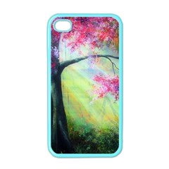Forests Stunning Glimmer Paintings Sunlight Blooms Plants Love Seasons Traditional Art Flowers Sunsh Apple Iphone 4 Case (color)