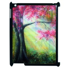 Forests Stunning Glimmer Paintings Sunlight Blooms Plants Love Seasons Traditional Art Flowers Sunsh Apple Ipad 2 Case (black)