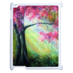 Forests Stunning Glimmer Paintings Sunlight Blooms Plants Love Seasons Traditional Art Flowers Sunsh Apple Ipad 2 Case (white)