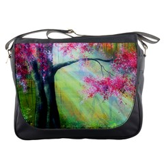 Forests Stunning Glimmer Paintings Sunlight Blooms Plants Love Seasons Traditional Art Flowers Sunsh Messenger Bags