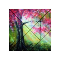 Forests Stunning Glimmer Paintings Sunlight Blooms Plants Love Seasons Traditional Art Flowers Sunsh Acrylic Tangram Puzzle (4  x 4 )