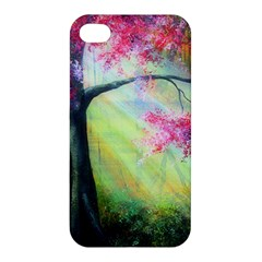 Forests Stunning Glimmer Paintings Sunlight Blooms Plants Love Seasons Traditional Art Flowers Sunsh Apple Iphone 4/4s Premium Hardshell Case