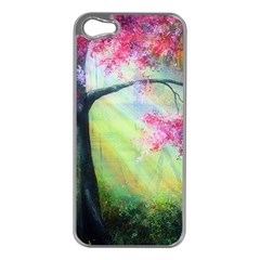 Forests Stunning Glimmer Paintings Sunlight Blooms Plants Love Seasons Traditional Art Flowers Sunsh Apple Iphone 5 Case (silver)