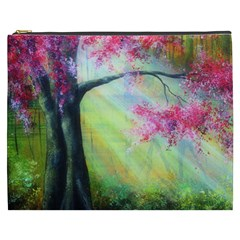 Forests Stunning Glimmer Paintings Sunlight Blooms Plants Love Seasons Traditional Art Flowers Sunsh Cosmetic Bag (xxxl)