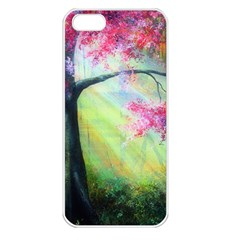 Forests Stunning Glimmer Paintings Sunlight Blooms Plants Love Seasons Traditional Art Flowers Sunsh Apple iPhone 5 Seamless Case (White)