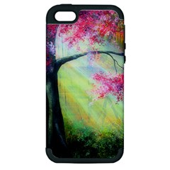 Forests Stunning Glimmer Paintings Sunlight Blooms Plants Love Seasons Traditional Art Flowers Sunsh Apple iPhone 5 Hardshell Case (PC+Silicone)
