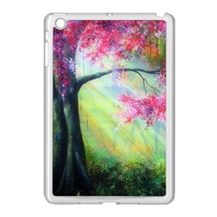 Forests Stunning Glimmer Paintings Sunlight Blooms Plants Love Seasons Traditional Art Flowers Sunsh Apple Ipad Mini Case (white)