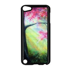 Forests Stunning Glimmer Paintings Sunlight Blooms Plants Love Seasons Traditional Art Flowers Sunsh Apple Ipod Touch 5 Case (black)
