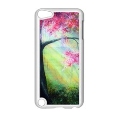 Forests Stunning Glimmer Paintings Sunlight Blooms Plants Love Seasons Traditional Art Flowers Sunsh Apple Ipod Touch 5 Case (white)